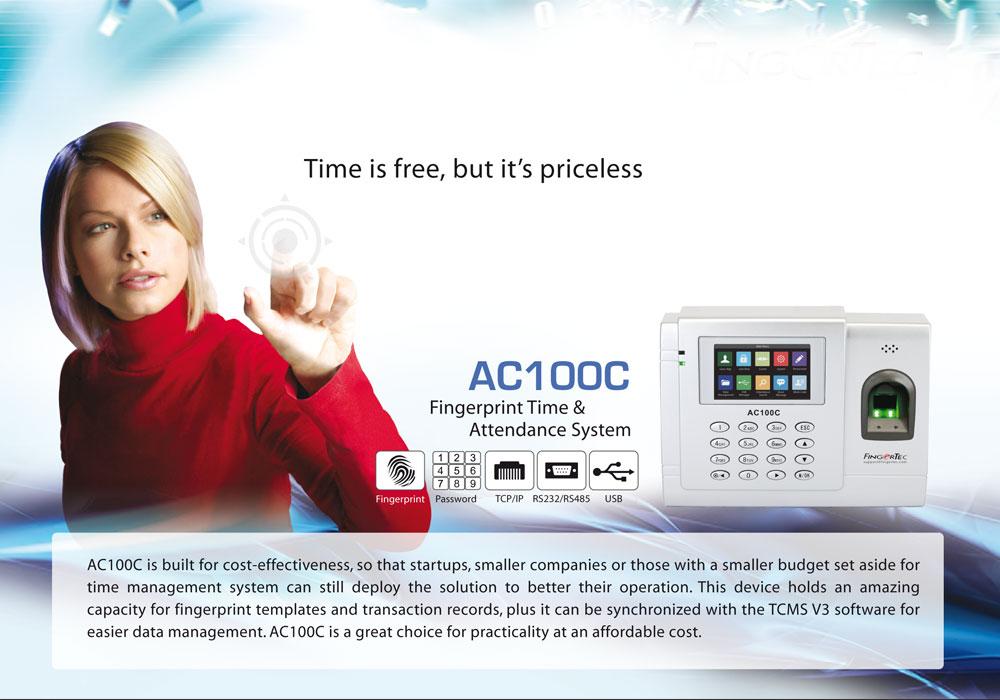 FingerTec AC100C | Providing fingerprint time system on