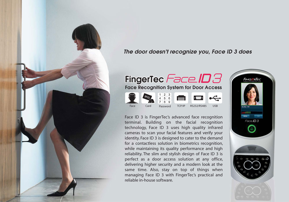 Fingertec Face Id 3 Providing Fingerprint Face