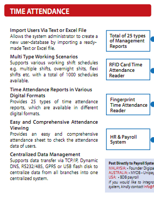 FingerTec TCMS V2 | Providing fingerprint, face recognition
