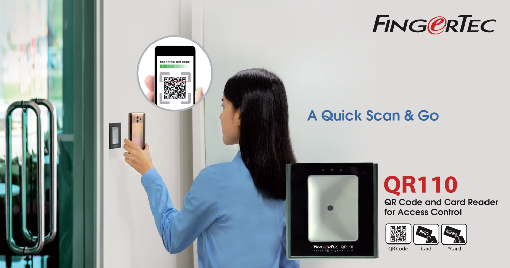 Simply scan your way with QR110 to conveniently obtain access to your space. This simple reader does not only scan QR Codes it also scans various types of ... & FingerTec QR Code and Card Reader for Access Control